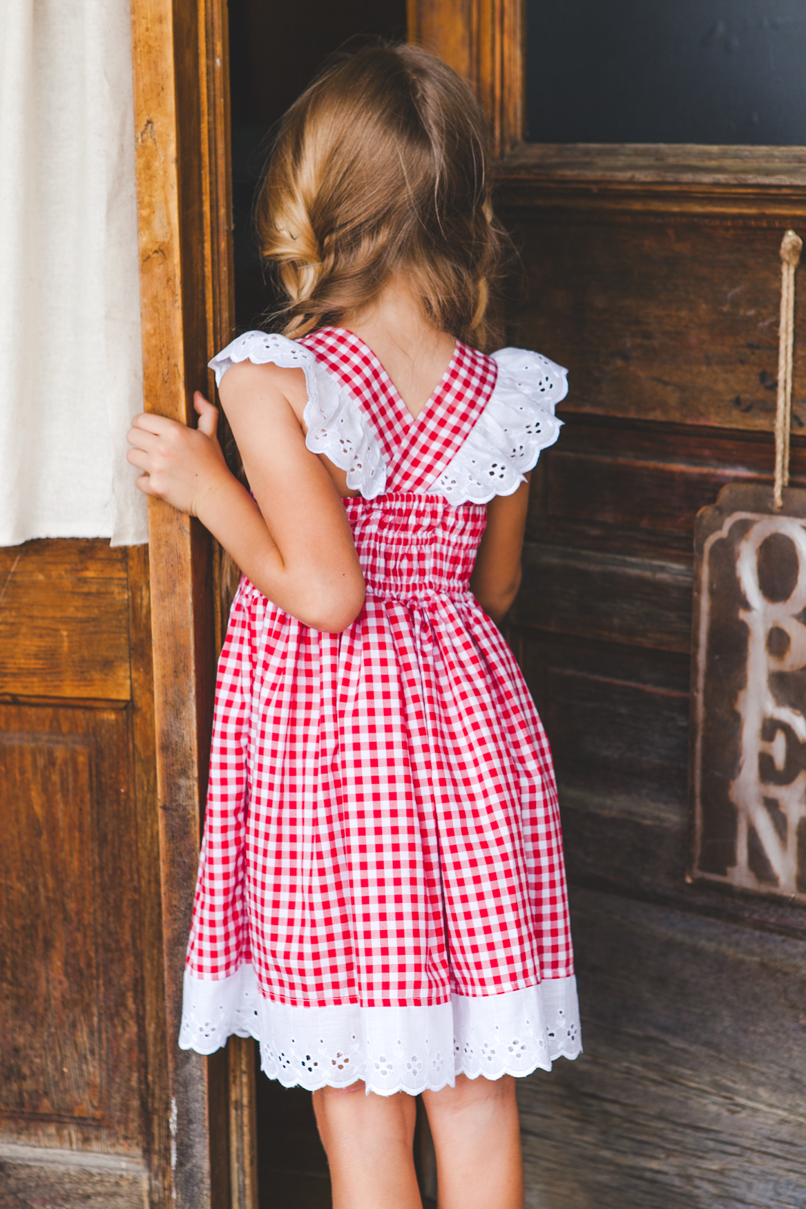 8ed7e6817 Available on May 27!  How perfect is this little red check dress ...