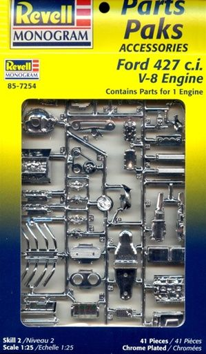 1960 S Ford 427 C I V 8 Engine 2 N 1 Stock Or Blown 1 25 Fs Plastic Model Kits Cars Revell Model Cars Plastic Model Cars