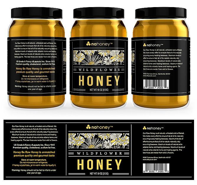 Wild Flower Honey Labels Template  Creative Brochure Templates