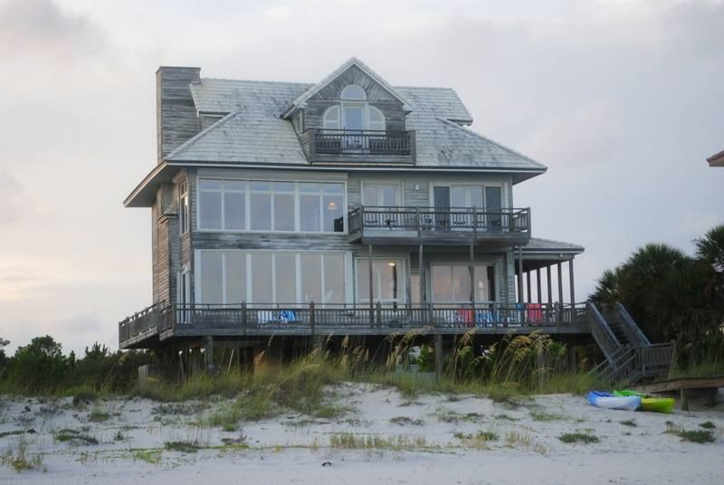 Favorite beach house!  View from the beach