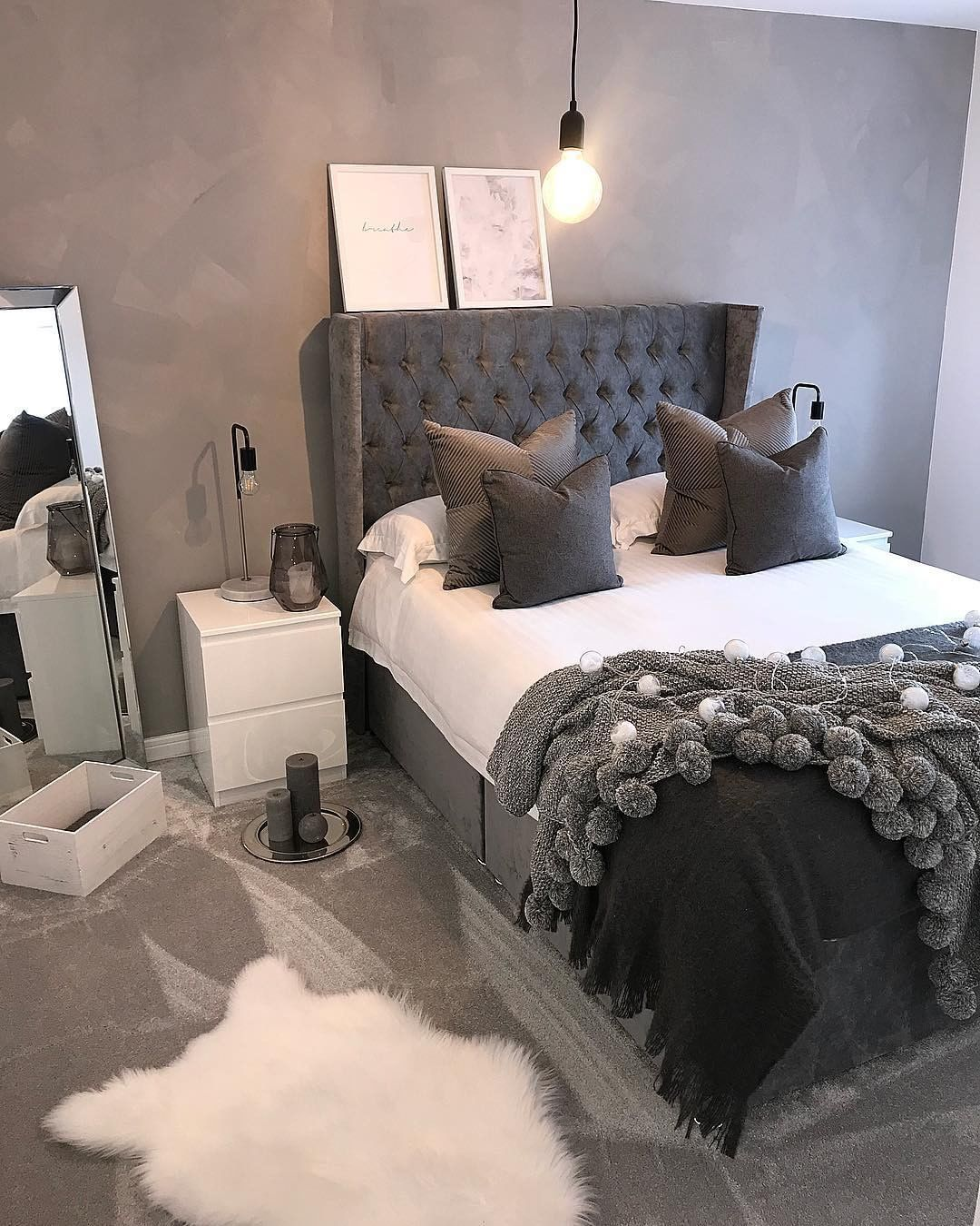 My Bedroom: Love This Grey Room! Follow My Bedroom Goals For More