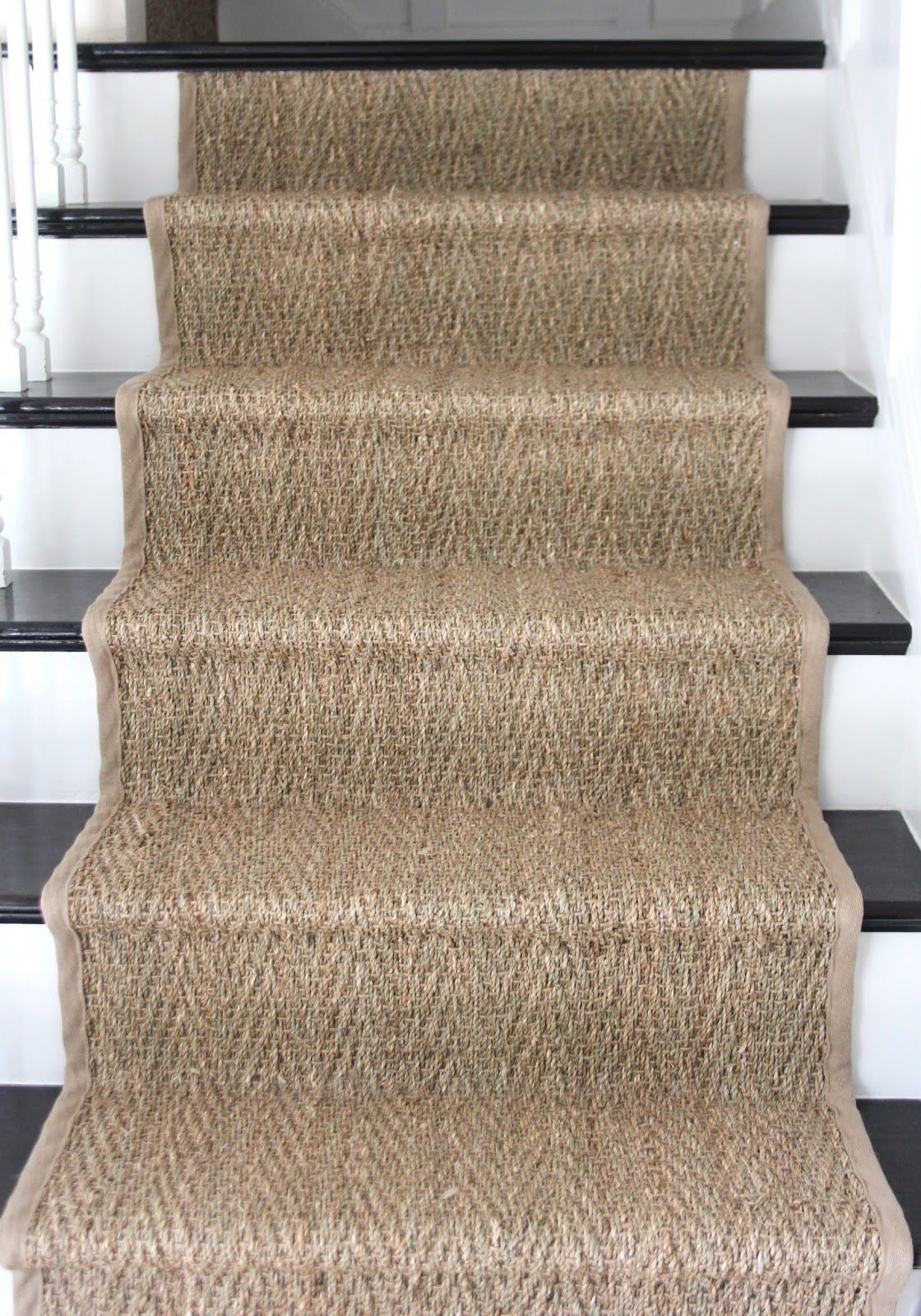 how to seagrass stair runner