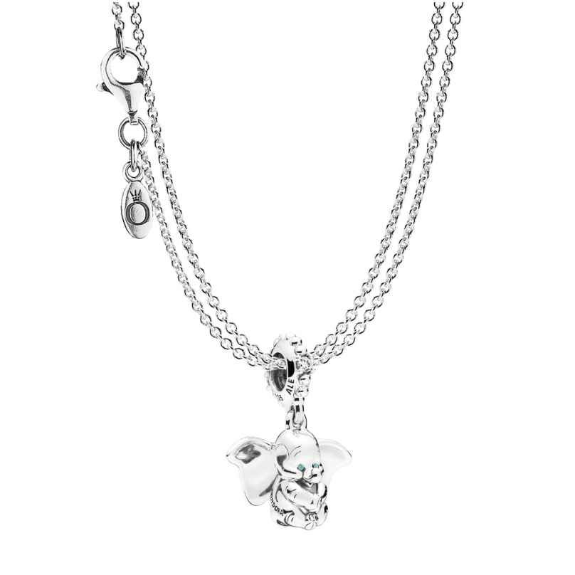 PANDORA Dumbo Pendant with 2-Row Necklace Silver 925 75248 ...