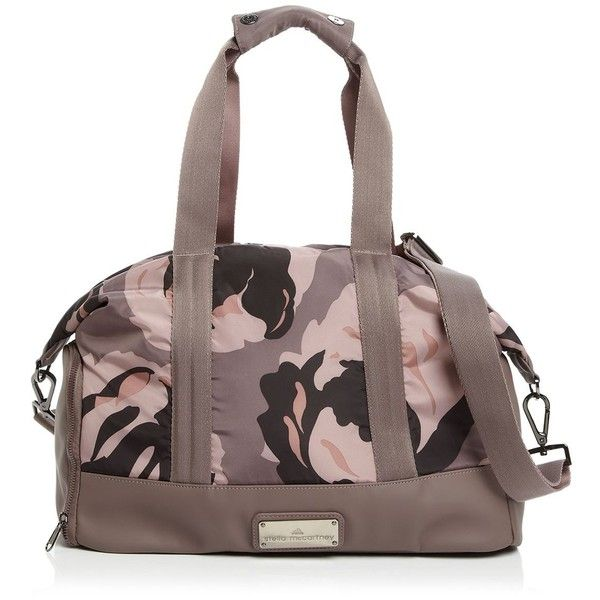 adidas by Stella McCartney Tote - Floral Camo Small Gym Bag (€155) ❤ liked on Polyvore featuring bags, handbags, tote bags, floral purse, floral tote, camouflage tote, camo handbags and camouflage handbags