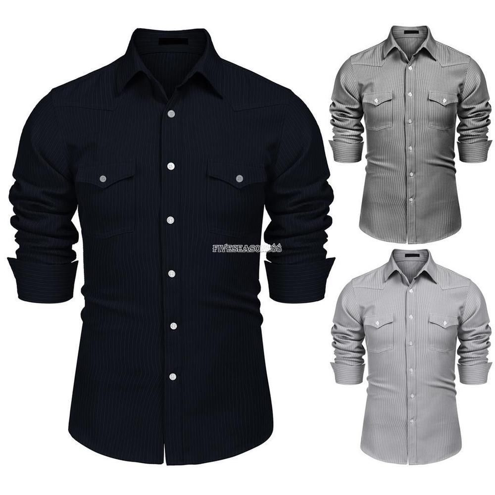 ouxiuli Mens Casual Military Style Short Sleeve Dress Shirt