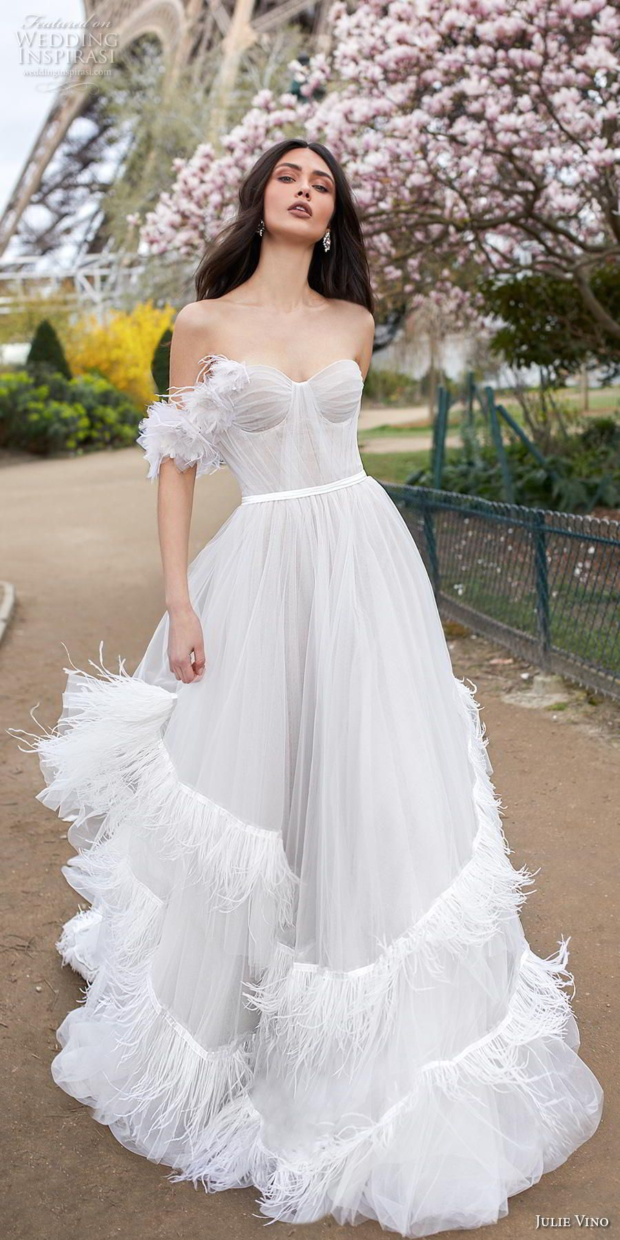 Julie Vino 2019 Wedding Dresses Paris Bridal Collection Wedding Inspirasi Wedding Dresses Unique Julie Vino Wedding Dress Strapless Wedding Dress Sweetheart [ 1800 x 900 Pixel ]
