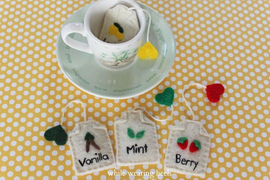 HowTo Fake Felt Tea Bags Crafts, Diy for kids, Diy