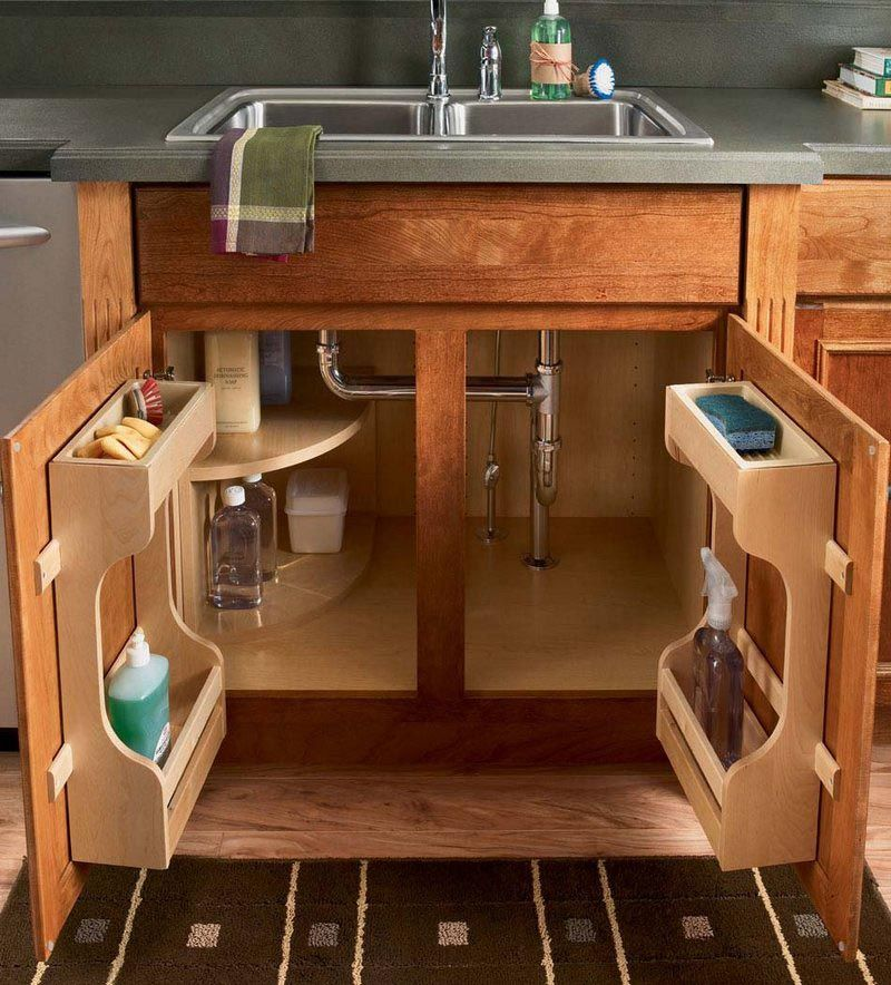 10 Amazing Ideas To Utilize The Space Under The Sink For Storage: Sink Base Kitchen Multi Storage Cabinet Decoration