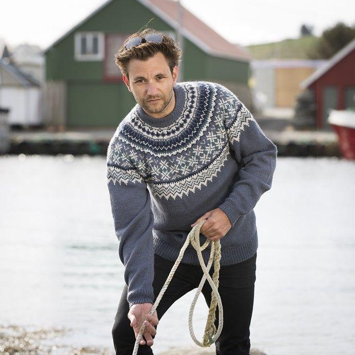 c79447ab 1709-4a Fryd genser herre | KNITTING & CROCHET | Men sweater, Knit ...