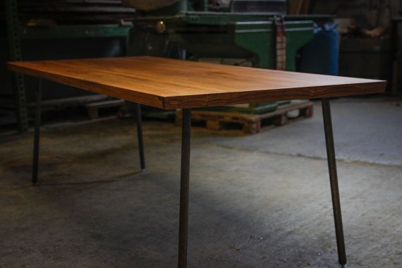 teak esstisch, großer esstisch aus teakholz mit nussbaumkanten auf, Esstisch ideennn