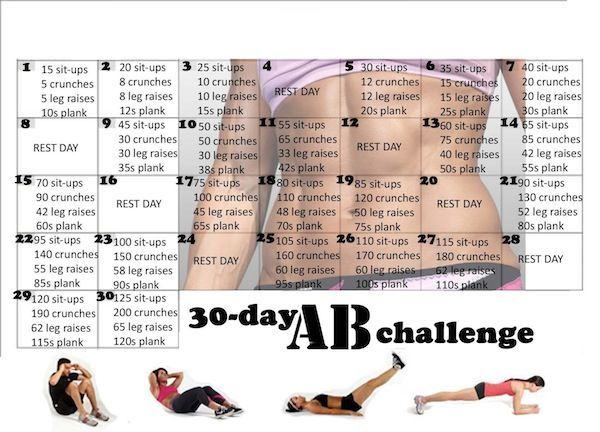 30 day ab workout calendar beautyroutinecalendar beauty routine