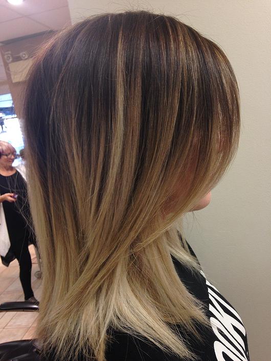 Julianne Salon Ottawa Precision Styling Straight Hair Brunette To