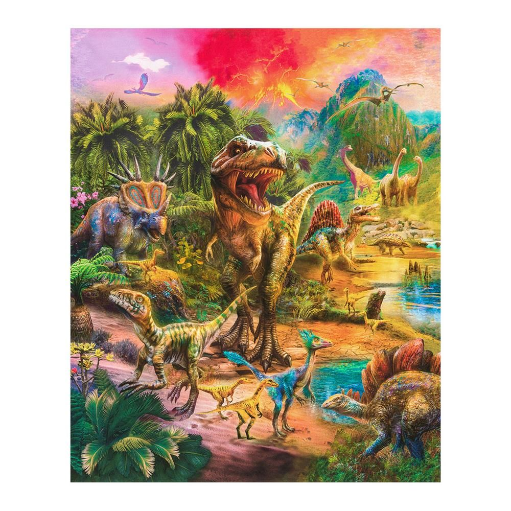 "Kaufman Picture This 24"" Panel Dinosaurs Wild in 2020"