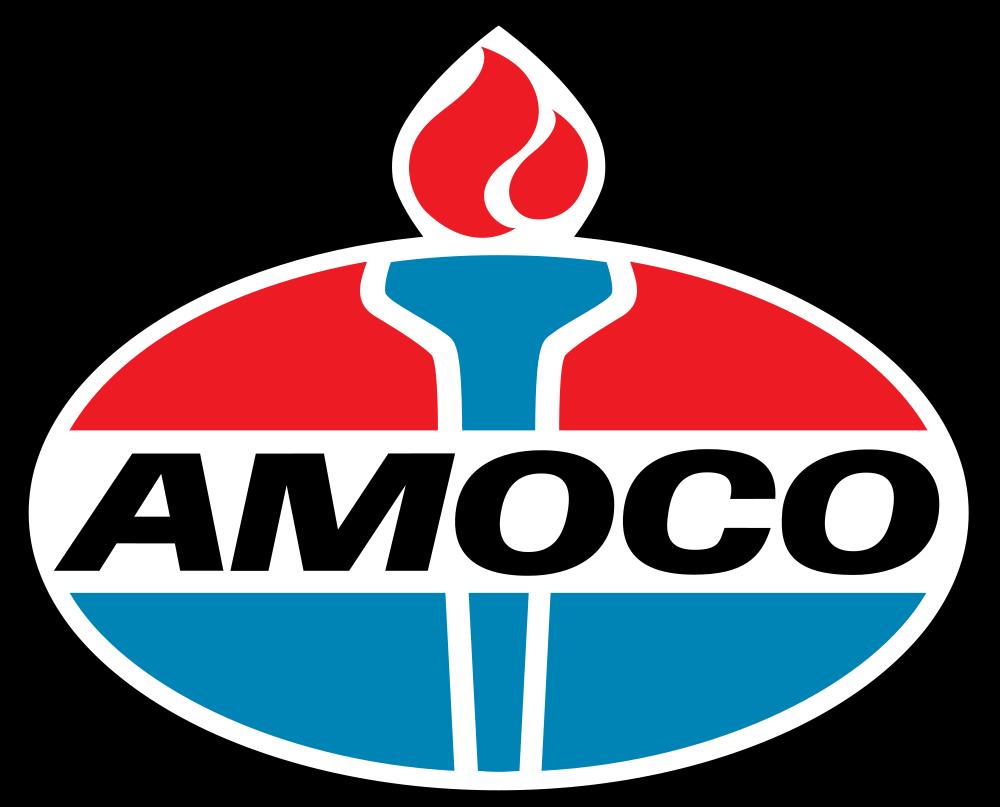 "AMOCO PETROL GAS /""LOGO/"" SERVICE STATION PROMO VINYL DECAL STICKER Vespa"