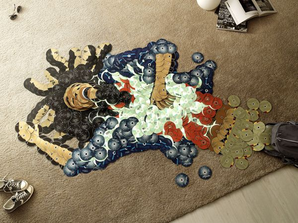 Classic Musician Mosaics Made From Their Own CDs