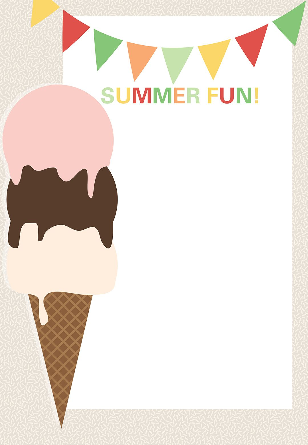 ice cream pool party invitation