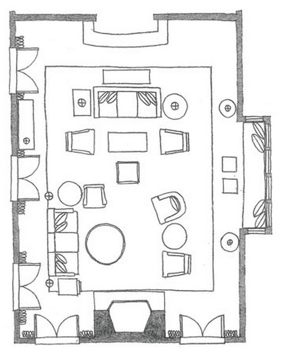 Living room floor plan option   Living room floor plans ...
