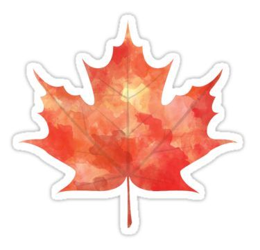 99f09a8bb093 Watercolor Maple Leaf | Sticker in 2019 | Products | Stickers ...