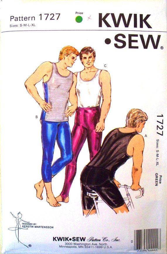 kwik sew pattern 1727 - mens tank top, tights and bicycle shorts ...