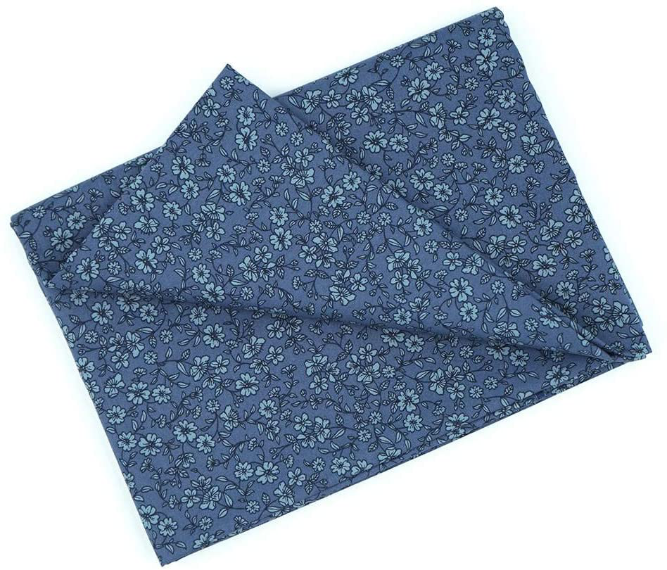 Photo of MasterFAB Cotton Fabric by The Yard for Sewing DIY Crafting Fashion Design Printed Floral Washable Cloth Bundles Voile;Full Width cuttable39 x 55inches (100x140cm) (Gray-Blue Spring Flowers) – Gray-blue Spring Flowers