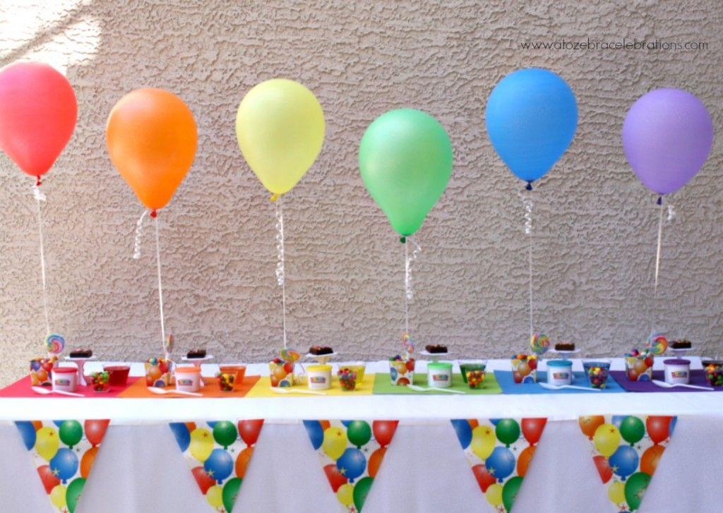 A rainbow of balloons. #BalloonSurprise