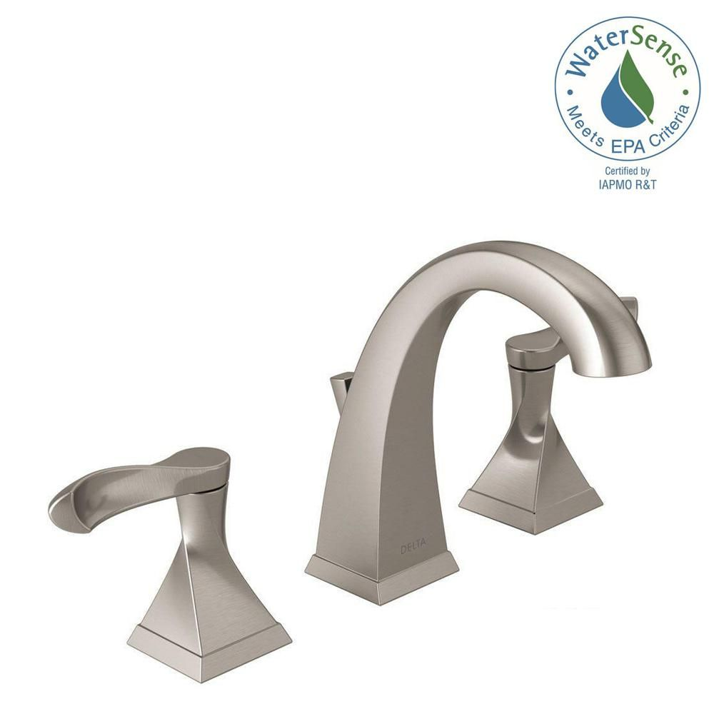 Delta Everly 8 In Widespread 2 Handle Bathroom Faucet In Spotshield Brushed Nickel 35741 Sp Dst The Home Depot Bathroom Faucets Faucet Widespread Bathroom Faucet [ 1000 x 1000 Pixel ]