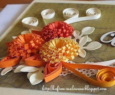 Rekodzielo Z Pasja Kurs Na Przestrzennego Kwiatka Quilling Quilling Crafts Paper Flowers