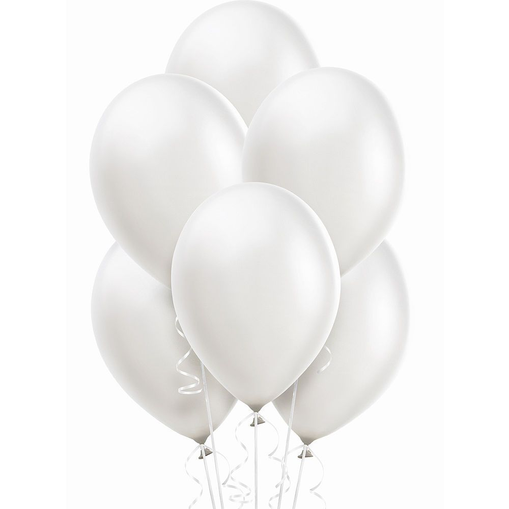 White Pearl Balloons 15ct Image 1 Pearl Balloons Party City