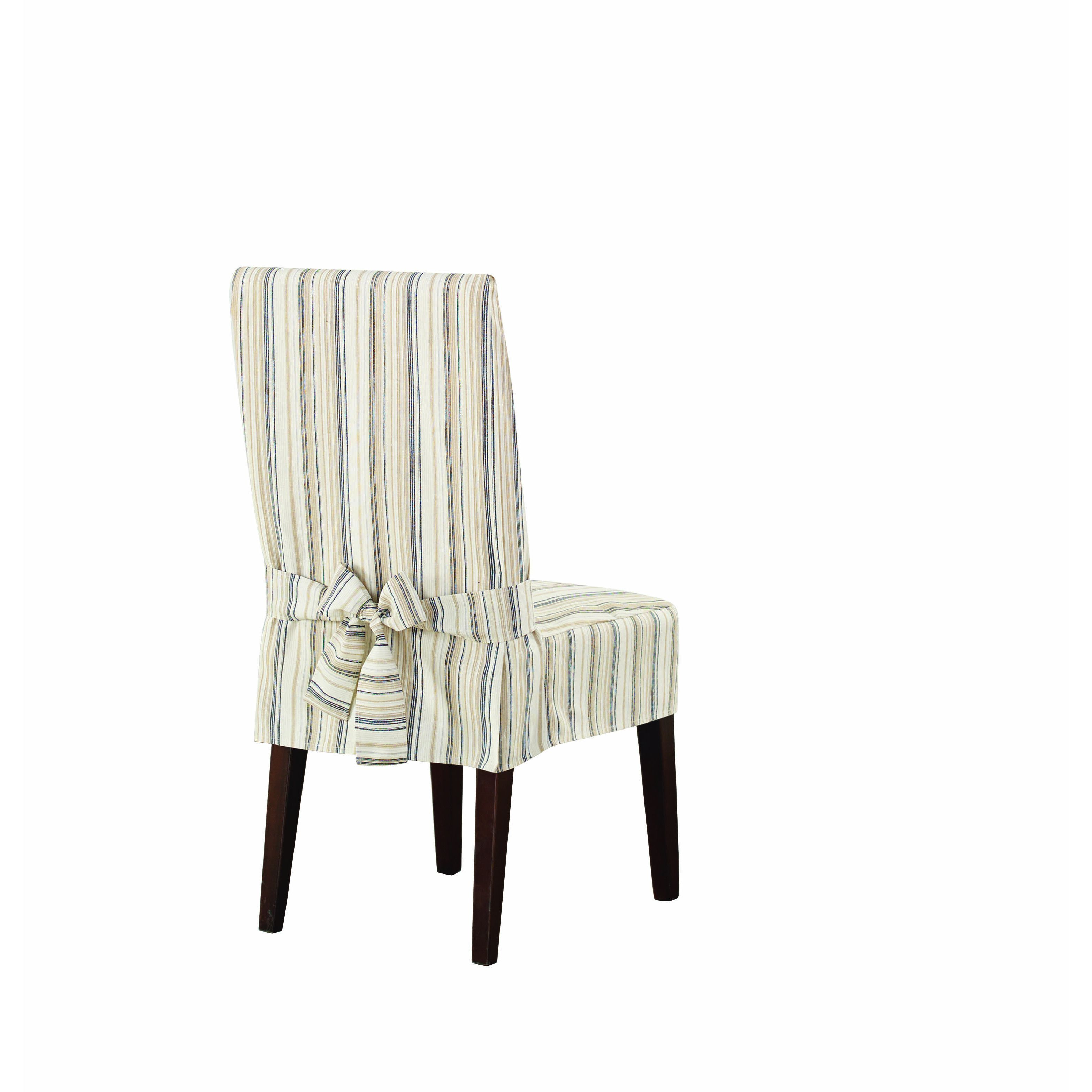 Sure Fit Harbor Stripe Dining Room Chair Cover