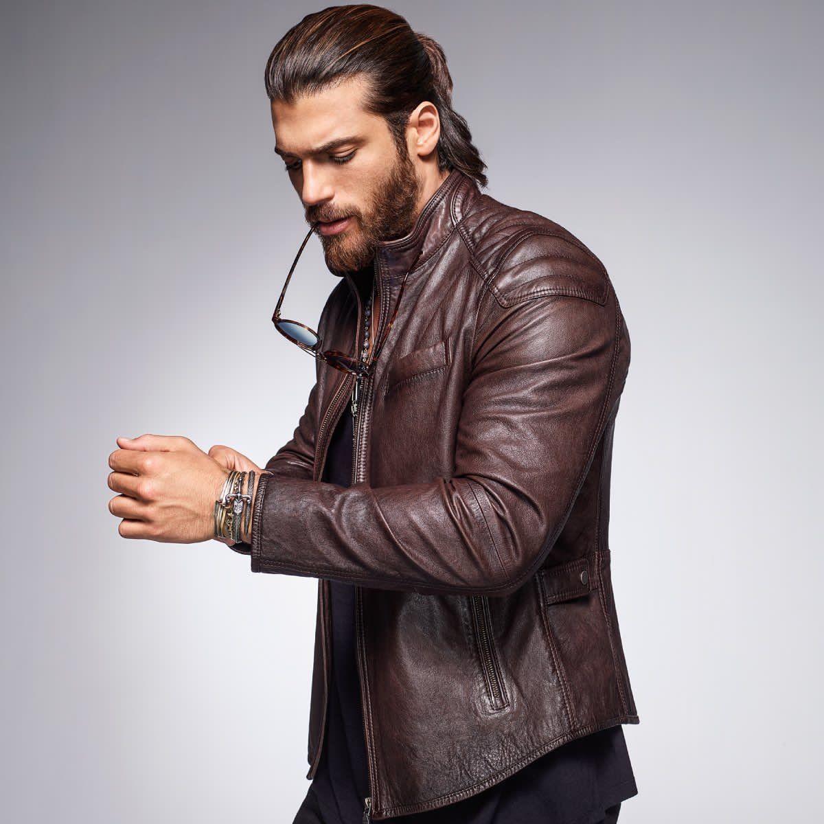 Pin By Samson On The Best Turkish Actors Actresses Stylish Men Handsome Leather Jacket Men Stylish Men [ 1200 x 1200 Pixel ]