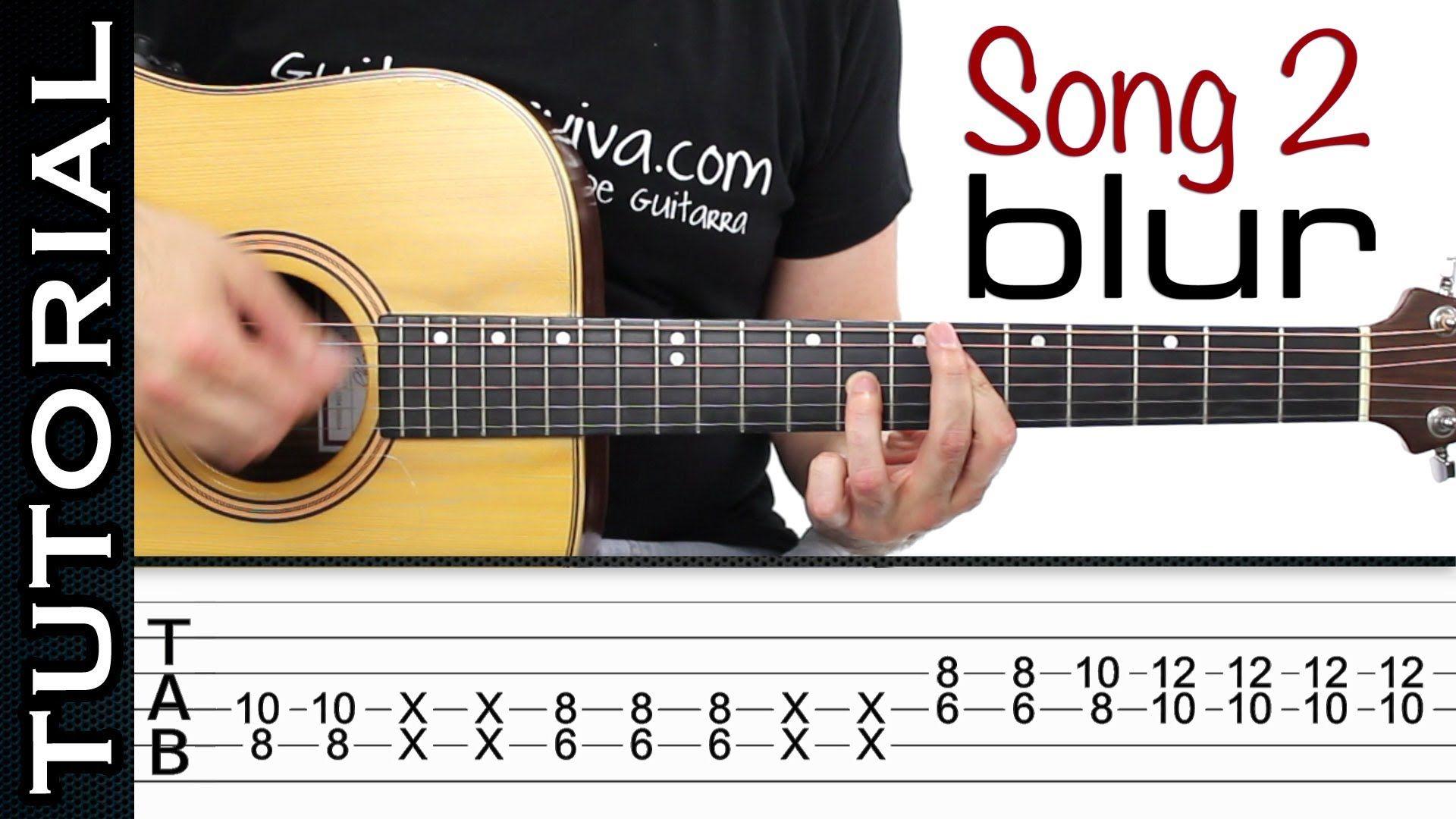 Como Tocar Song 2 De Blur Fifa 98 En Guitarra Acstica Guitar