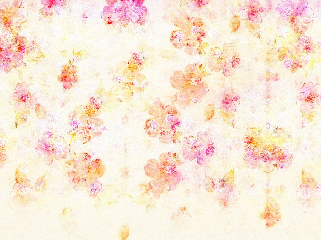Vector round frame with pink flowers on white background in pastel - Delicate Flowers On White Background