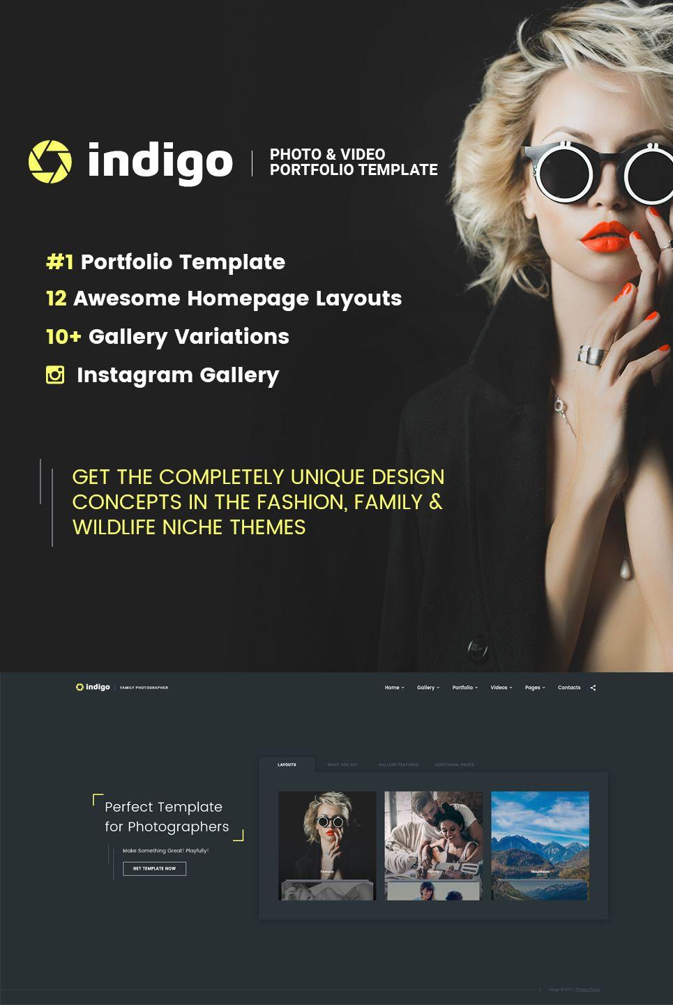 Indigo - Photo & Video Portfolio Multipurpose HTML Website Template ...