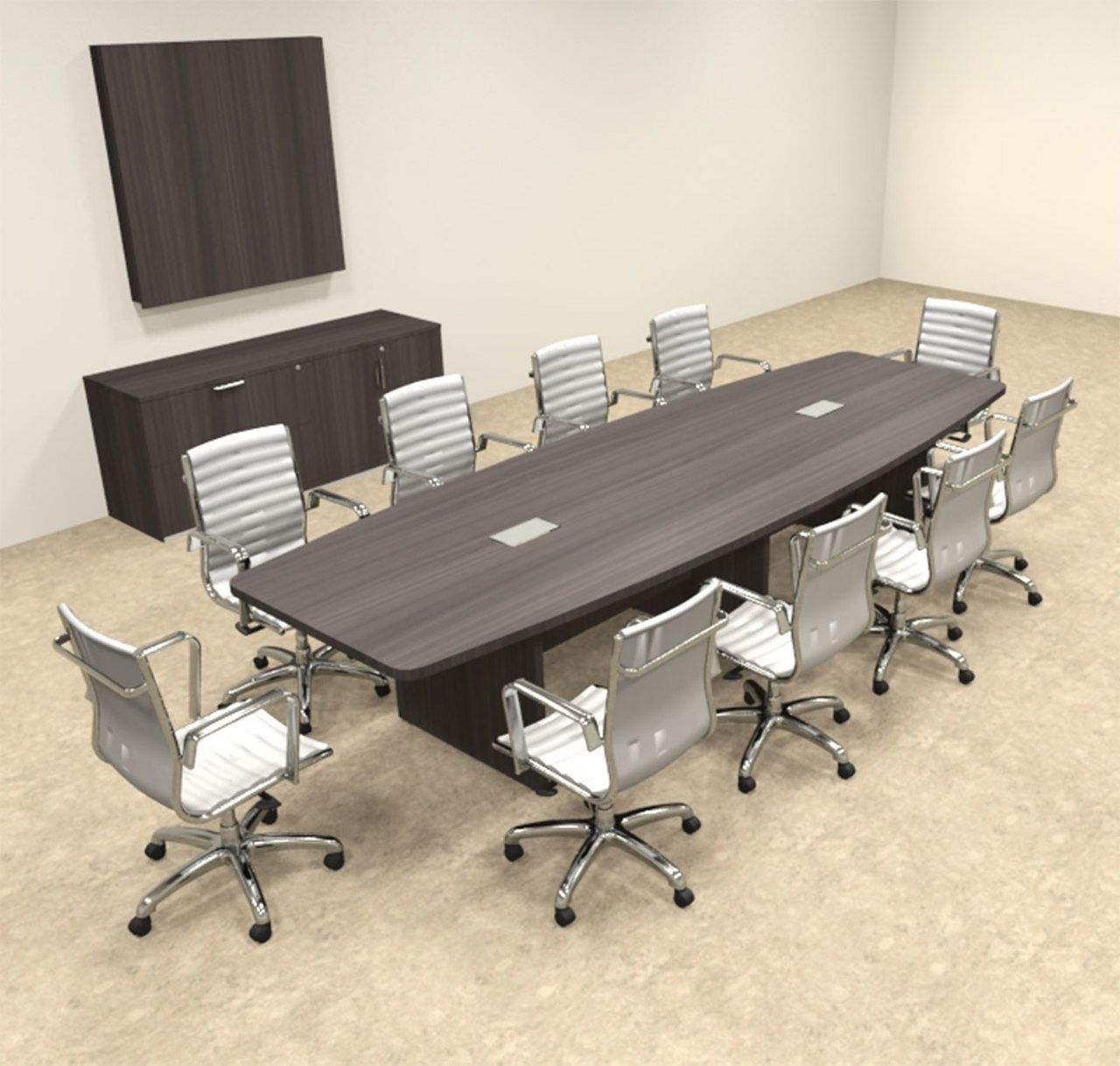 Modern Boat Shapedd 12 Feet Conference Table Of Con C134 Modern Conference Table Conference Table Office Table Design