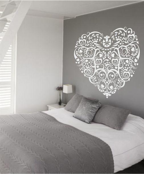 Muursticker hart for the home pinterest hart muurstickers en kinderkamer - Tienerjongen slaapkamer ...