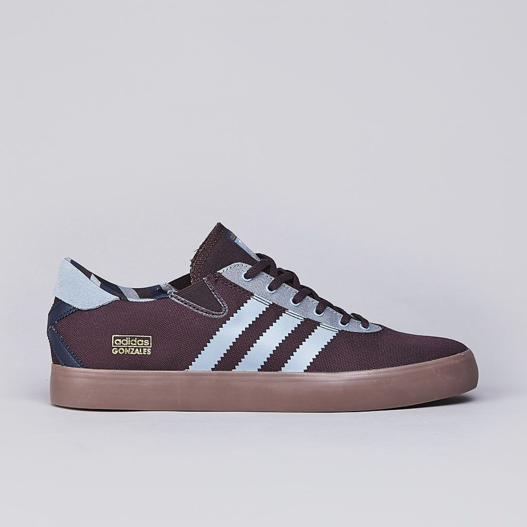 This season, adidas Skateboarding is delivering the GONZ Pro, Mark Gonzales'  pro model. The kicks are built on a gum vulc sole with burgundy canvas  upper.