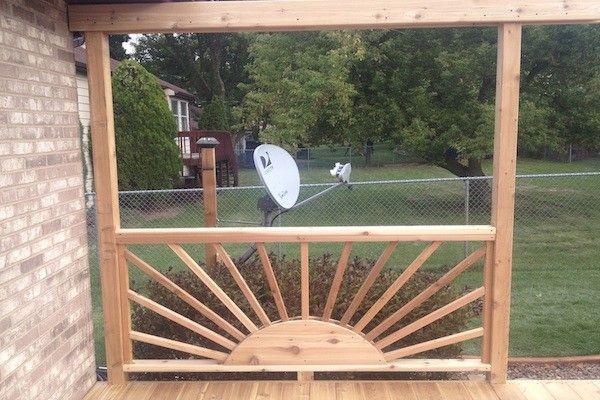 sun shine shaped decorative deck railings decorative cedar deck railing twin lakes porch. Black Bedroom Furniture Sets. Home Design Ideas