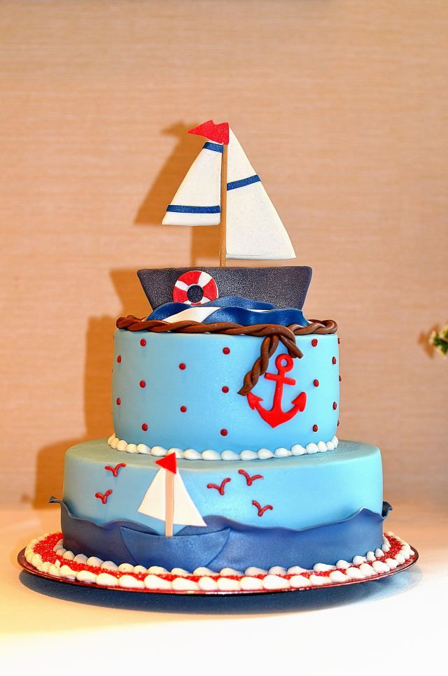 Ahoy, It's a Boy Baby Shower Cake