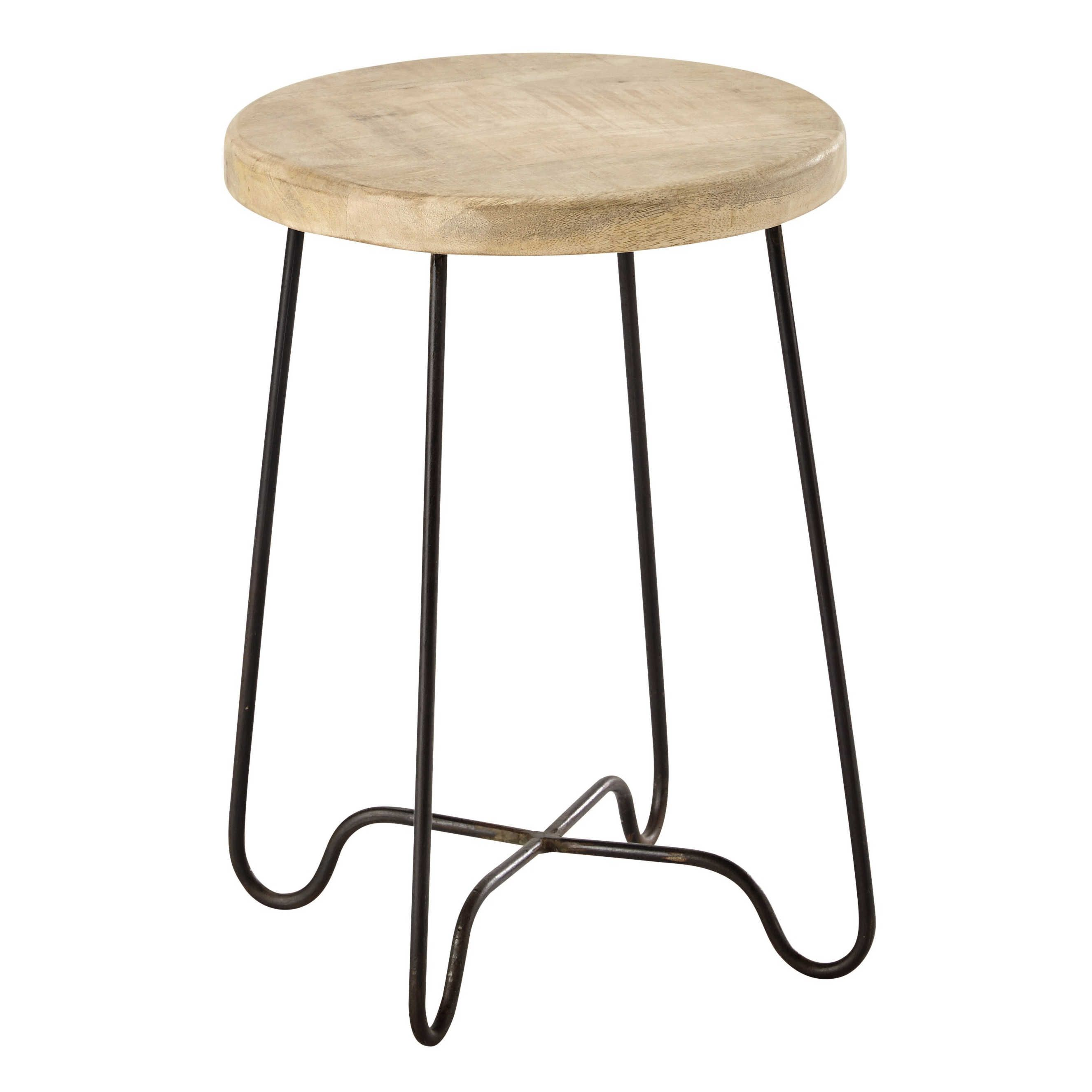 Assises Home Sweet Home Chambre Wood Stool Metal