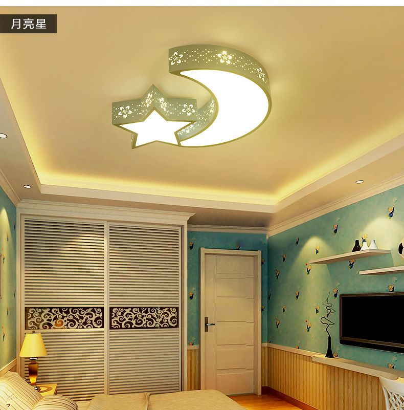 Blue moon stars children room lights white lights color modern blue moon stars children room lights white lights color modern cartoon led ceiling lamp bedroom lamp mozeypictures Gallery