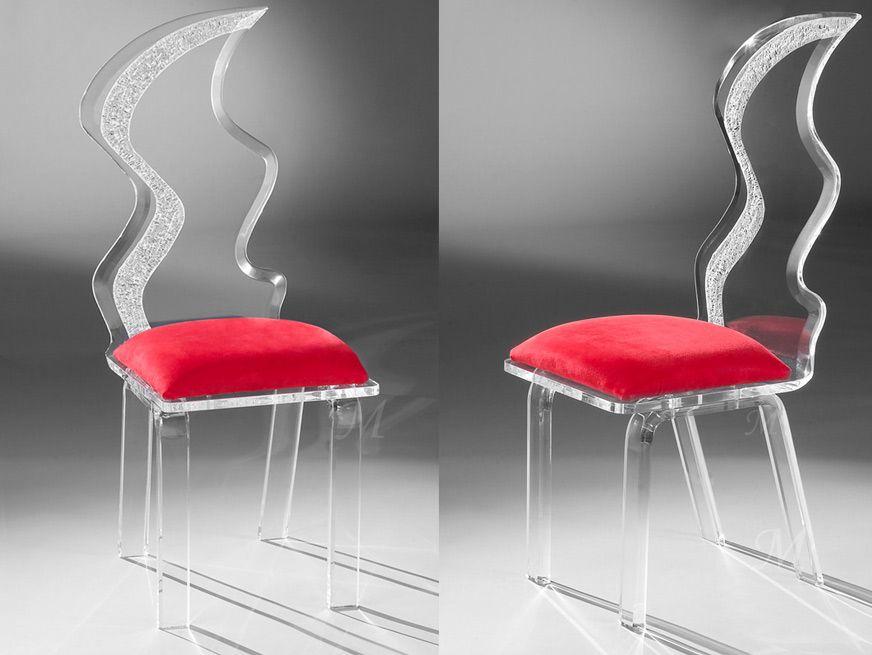 Muniz Plastics Zig Zag Acrylic Chair For Sale Muniz Acrylic