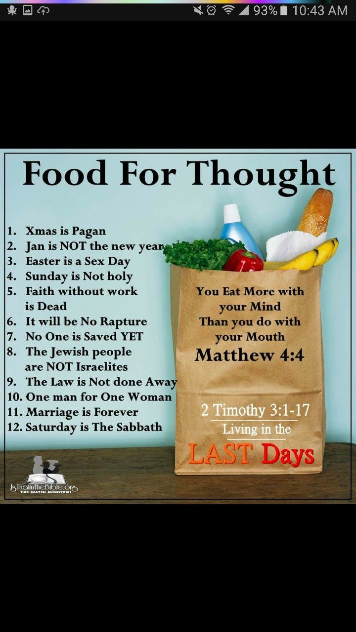 Food for thought. Bible truth, Inspirational bible
