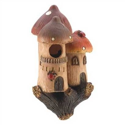 Attractive Mushroom Castle Bird House Great Pictures