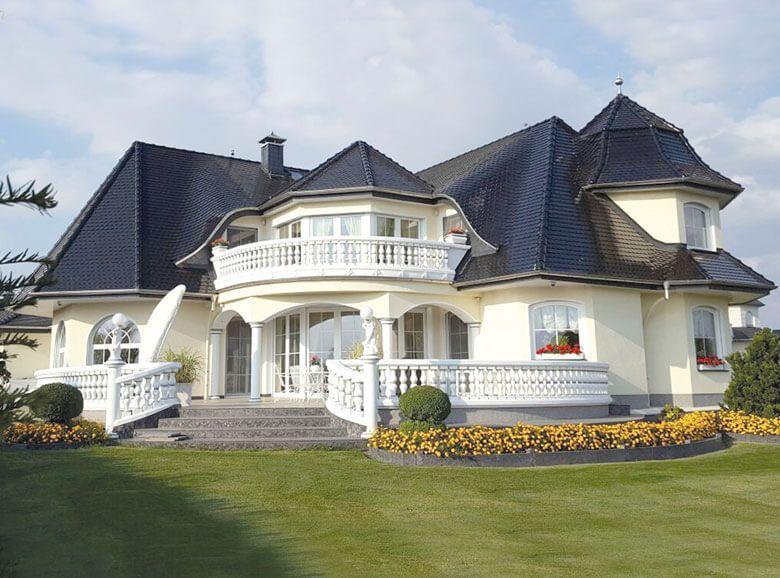 Schlüsselfertige energieeffiziente Landhausvilla Haus