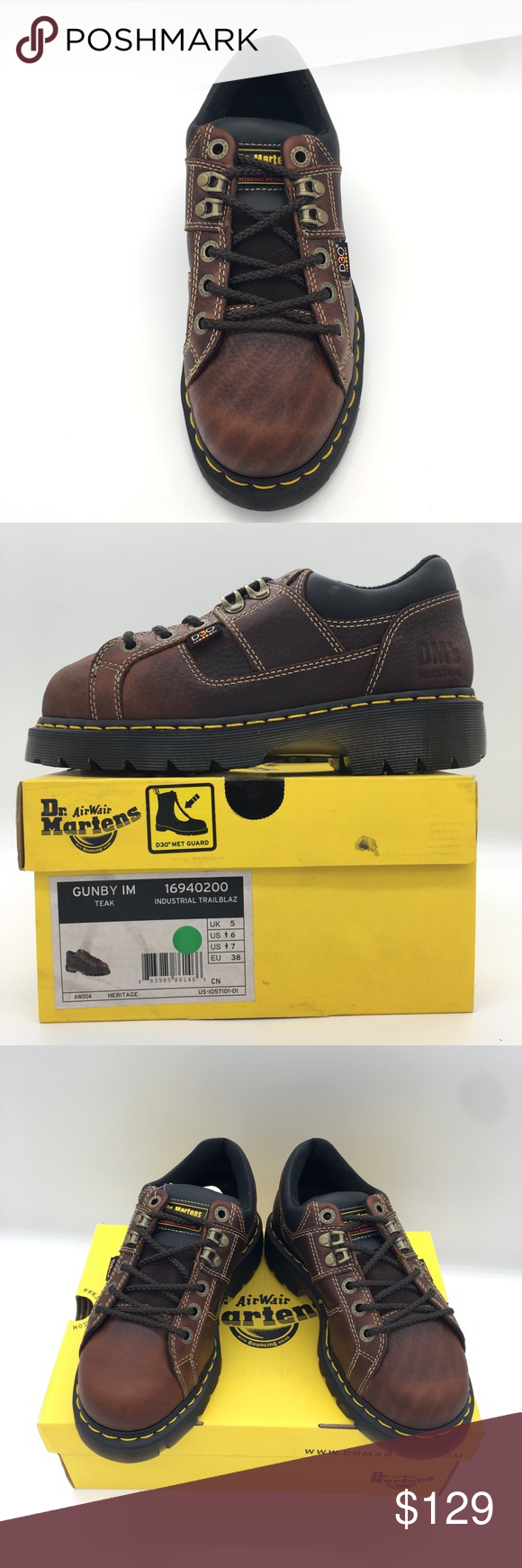Dr. Martens Gunby Steel Toe Shoe (Men's Size 6) NWT (With