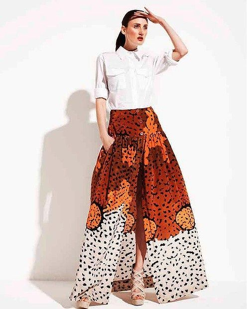 summer chic...I live for this skirt!