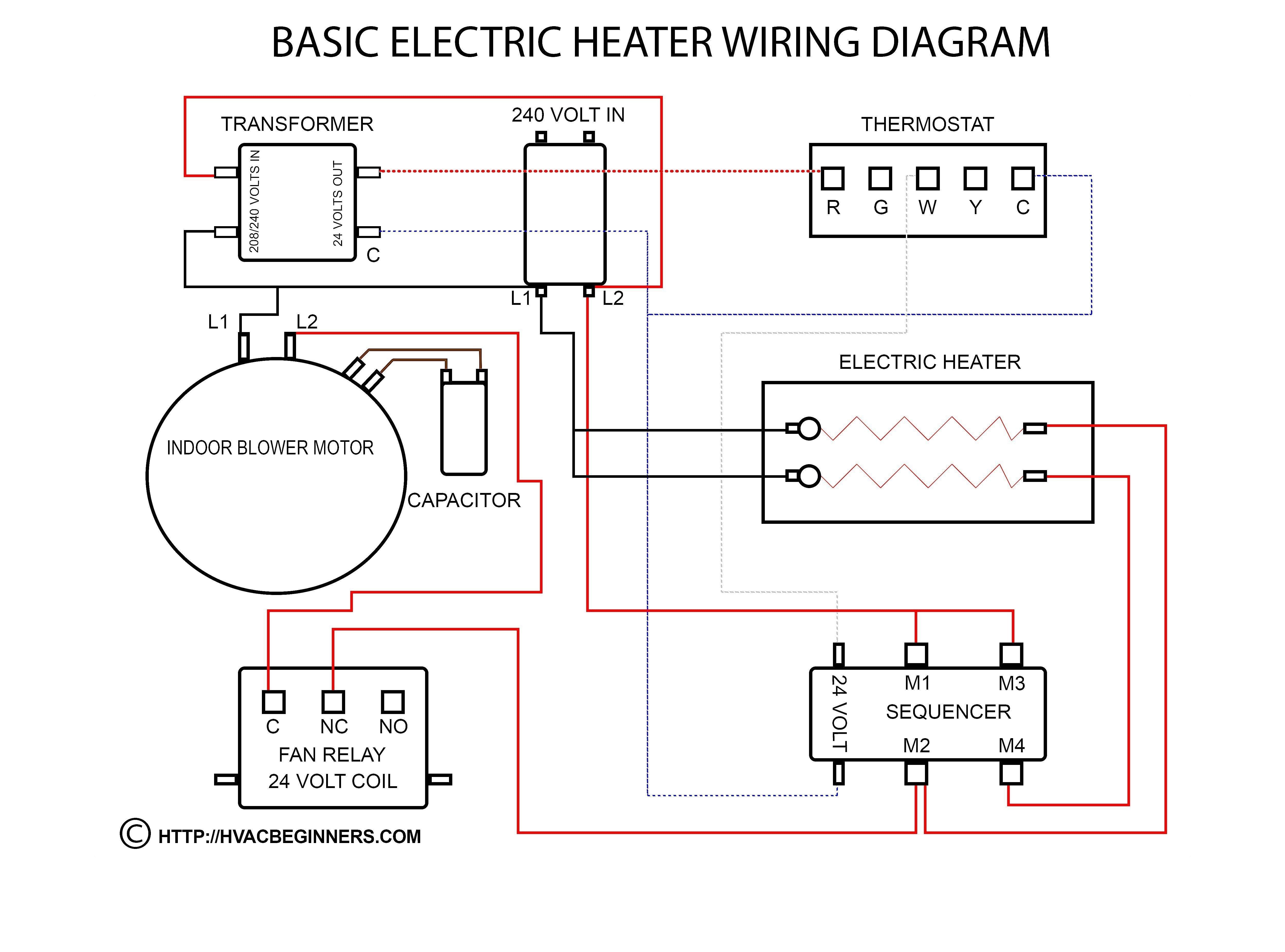 Hvac Blower Motor Wiring Diagram New In 2020 Basic Electrical Wiring Thermostat Wiring Electrical Circuit Diagram