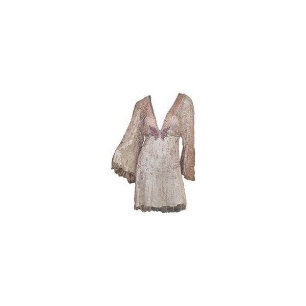 Beaded Kimono Sleeve Dress