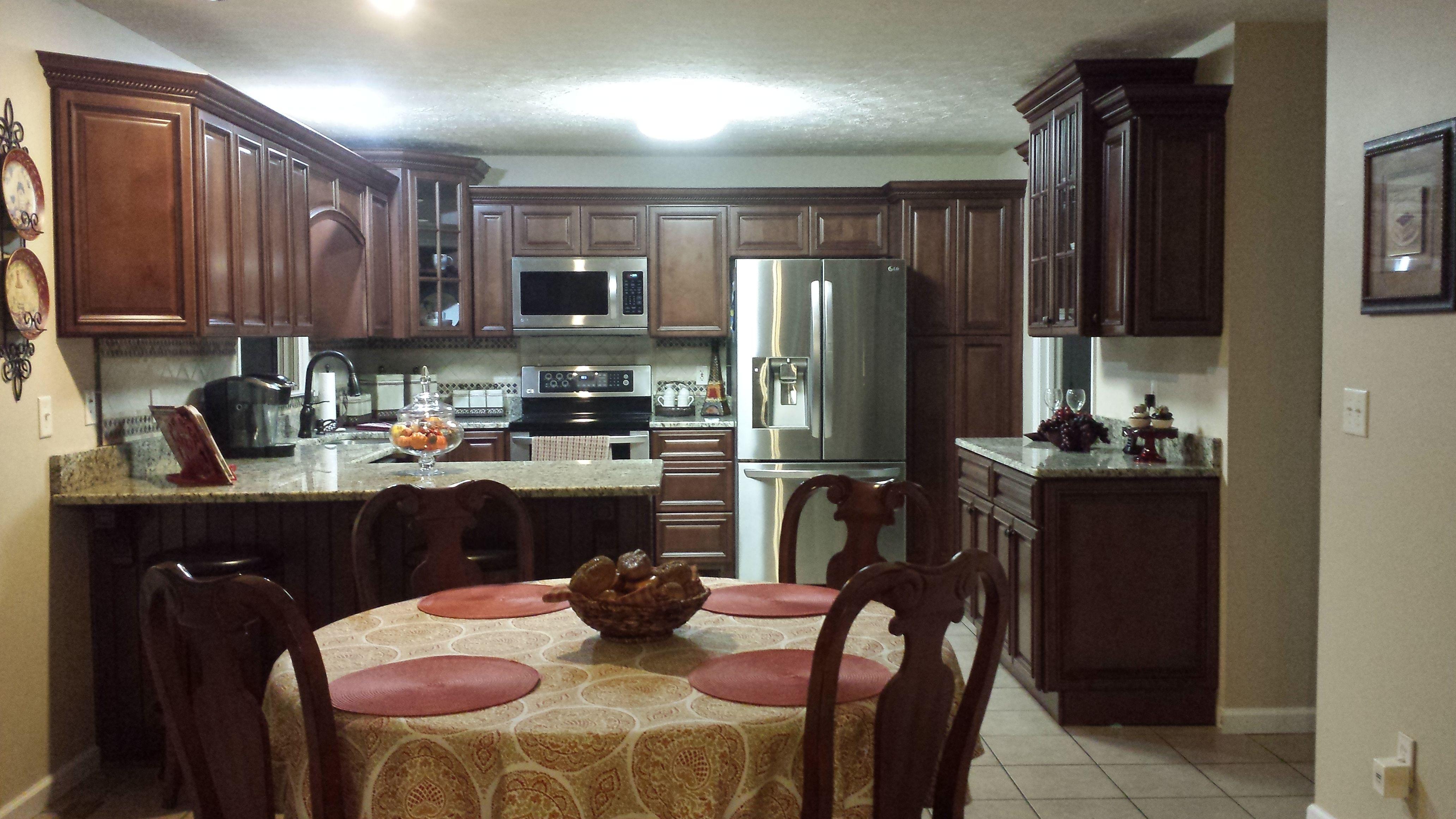 Signature Kitchen Cabinets Signature Brownstone Cabinets With Granite Countertops Berea Ky