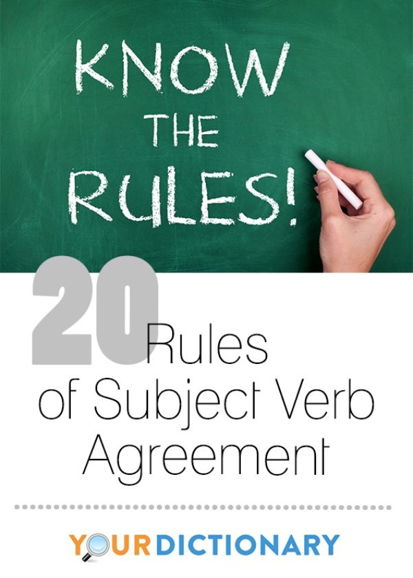 20 Rules Of Subject Verb Agreement In Writing Pinterest